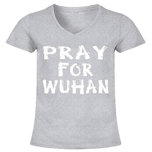 Córonavirus Shirt China Infection Support Pray For Wuhan T-Shirt Design Shirts Soft Women Cotton Printed Art Tee 80S Cheap Design Customize T-Shirt