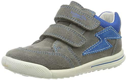 Superfit Baby Jungen Avrile Mini Sneaker, Grau (Hellgrau/Blau 25), 22 EU
