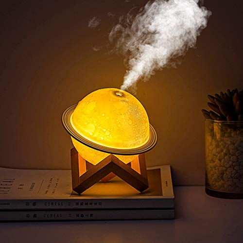 Ultrasonic Essential Oil Diffuser, Touch to Change Color, USB Planet Air Humidifier Aroma Essential Oil Diffuser with Automatic Power-Off