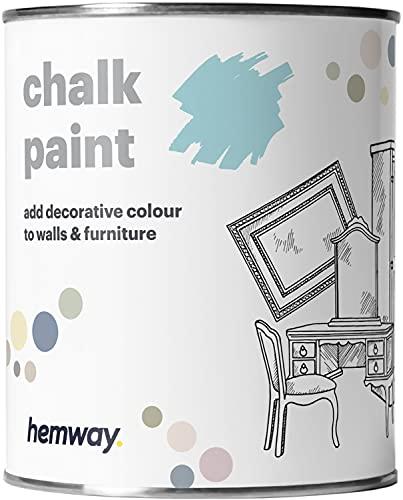 Hemway Pintura de tiza azul ártico acabado mate para pared y muebles de 1 l/34 onzas Shabby Chic Vintage Chalky (más de 50 colores disponibles)