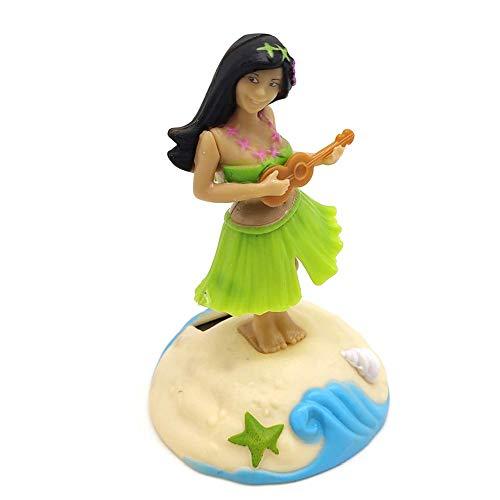 Eruditter Solar Wackelfigur Hula Girl - Solartanz Spielzeug, Hawaii Mädchen Figur, Hawaii Mädchen Solar Tanzen Ideal Für Die Fensterbank, Auto, Büro, Schreibtisch