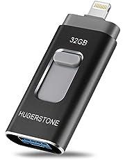 HUGERSTONE USBメモリ 32GB iPhone/Android/PC対応 フラッシュドライブ