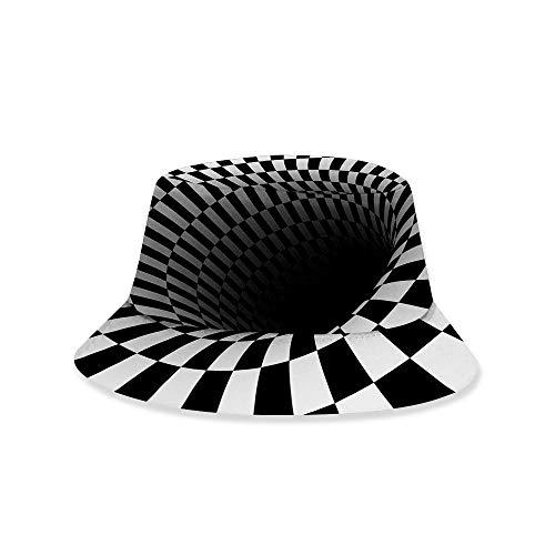 RNGZC Sonnenhüte Damen Sommer Dreidimensionale Wirbel 3D Gedruckt Fischer Hut Paar Multifunktionale Sonnenschutz Atmungsaktive Hut Dm