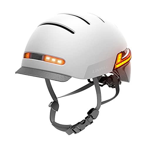 Casco Intelligente LIVALL, caschi per Bicicletta da Ciclismo Bluetooth con LED sensore Automatico, luci Posteriori per indicatori di direzione, Allarme SOS, Casco da Bici Certificato per Uomo Donna
