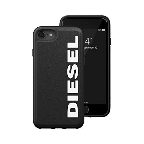Diesel Handyhülle Designed für iPhone 6 / 6s / 7/8 / iPhone SE2 Hülle, Geformter Kernbereich, stoßfest, falltestgeprüfte Schutzhülle mit erhöhtem Rand, Schwarz/Weiß