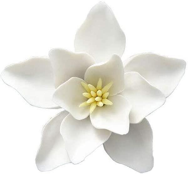 BINGNENG Handmade Decorative Ceramic Flowers 3D Wall Decor Hanging Room Decoration Art 1 Pc White Magnolia Flower 5 51