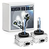 Premium HID Xenon Low Beam Headlight Replacement Bulbs - by Kensun - (Pack of two bulbs) - D1S - 8000K