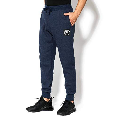 Nike Herren M NSW Air Pant FLC Sporthose, Blau (Obsidianheather/Obsidian 473), 50 (Herstellergröße: X-Large)