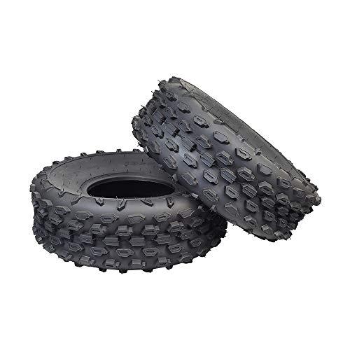 AlveyTech 19x7.00-8 Off-Road Mini Bike Tires (Set of 2) (QD113 Knobby Tread)