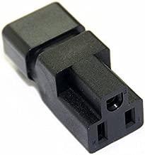 Toptekits Adapter Nema 5-15r To C14 , IEC C14 Male to NEMA 5-15R Power Converter adaptor