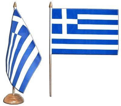 Tischflagge Tischfahne Griechenland - 15 x 22 cm