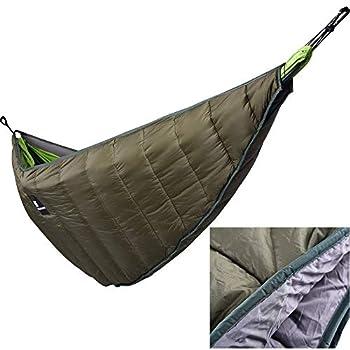 DETECH Hiver Chaud Hamac sous-Quilt Léger Engrenage De Hamac Quilt Packable Toute La Longueur sous Couverture Camping Survivor Suspendus Lit