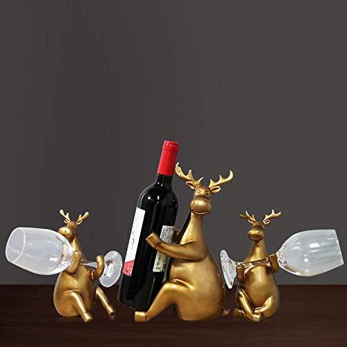 ShiSyan Decoraciones del Arte del Arte del Vino más Fresco decoración Restaurante Estante del Vino Ciervos Mujeres Comida Mesa de la Cocina 1