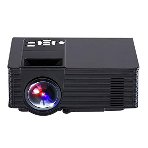 Proyector portátil VS319 1500Ansi LM Proyector Inteligente WVGA 800x480, Android 4.4, cuádruple, 1GB DDR3, 8GB NAND Flash, Soporte WiFi (Color : Black)