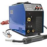 MIG-250 Inverter Schweißgerät MIG MAG - Schutzgas Schweissgerät mit 250 Ampere, Fülldraht und...