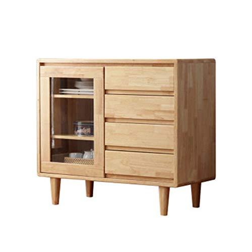 Gabinete de té de madera maciza Moderno Minimalista Minimalista Gabinete de almacenamiento Original Madera Gabinete de almacenamiento Restaurante Gabinete de té Armario de almacenamiento de aparador
