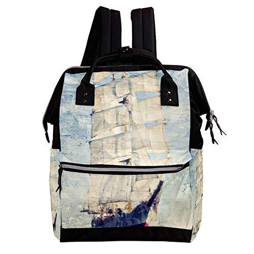 Große Kapazität Baby Wickeltasche Rucksack für Frauen und Mama Geldbörse Reisen Anti-Diebstahl-Rucksack Leichte lässige College-Schultasche für Mädchen 27x19.8x36.5cm Death-Valley