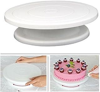 Jiaxin go ケーキ回転台 お菓子作り用 デコレーションケーキ 滑り止め回転台 装飾台 ターンテーブル ケーキ作り用 クリーム ケーキ デコレーションツール 再利用可能 ケーキスタンド 製菓道具