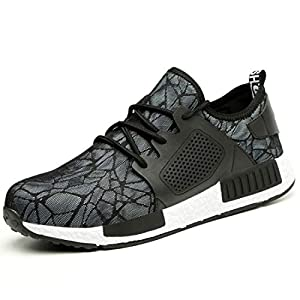 41pRG1jPSxL. SS300  - YISIQ Zapatos de Seguridad para Hombre Mujer Transpirable Ligeras con Puntera de Acero Trabajo Calzado de Zapatos de Industrial y Deportiva Unisex
