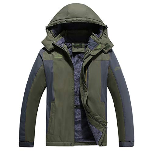 HJHHJHAB Heren Waterdichte Mountain Jacket Winddichte Softshell Outdoor Fleece Mountaineering Suit Multi-Pockets Winterjassen Ski Jas Regenjas