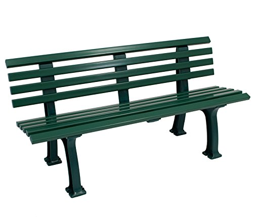 Wetterfeste Parkbank 3-sitzer, Kunststoff grün