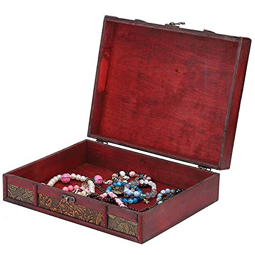 Cajas de la joyería de Escritorio para el Collar Titular de Almacenamiento, Caja de Almacenamiento Acceso de joyería Artículos pequeños Organizador Retro Caso diseñado para Mujeres Moda TINGG