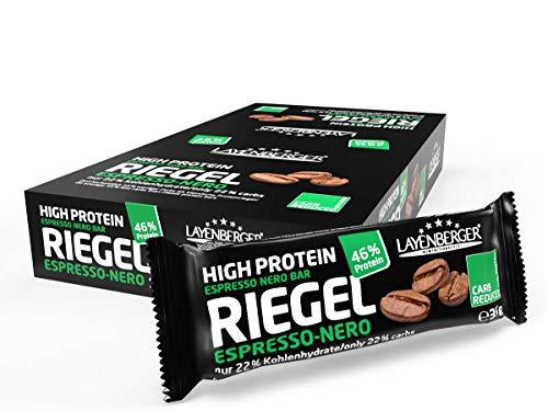 Layenberger High Protein Riegel Espresso Nero, (18 x 35 g)