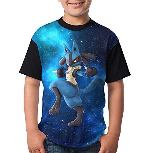 KQJH Kinder/Jugendliche Lu-Cario T-Shirts 3D-Druck Kurzarm Grafik T-Shirts für Jungen Mädchen
