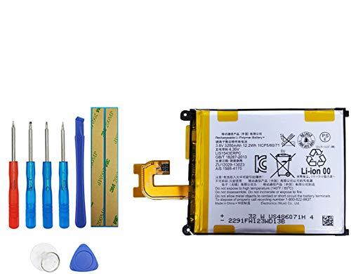 Upplus LIS1543ERPC - Batería de repuesto compatible con Sony Ericsson Xperia Z2 D6503 Xperia L50 Xperia Z2 3G D6502 Xperia Z2 D6508 con kit de herramientas