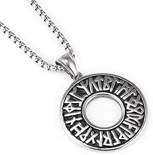 NC188 Necklace Woman Man Men S Vintage Necklace Stainless Steel Letter Ring Titanium Steel Pendant Hip Hop Sweater Chain