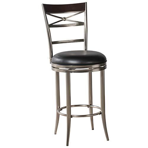 Hillsdale Furniture Kilgore Swivel Bar Stool, Height, Dull Nickel