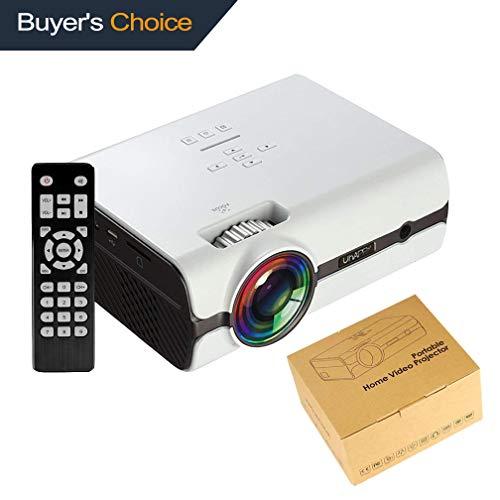 Proiettore LCD Mini TOPRUI 3000 Proiettore video LUMENE 1080P, Multimedia Home Cinema Supporto HDMI USB TF VGA AV per Home Theater TV Gioco Compatibile con iPhone / Smartphone Android Laptop