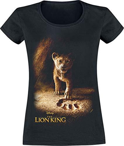 Der König der Löwen Simba Frauen T-Shirt schwarz S 100% Baumwolle Disney, Fan-Merch, Film, Simba