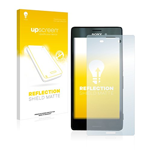 upscreen Entspiegelungs-Schutzfolie kompatibel mit Sony Xperia M4 Aqua – Anti-Reflex Bildschirmschutz-Folie Matt