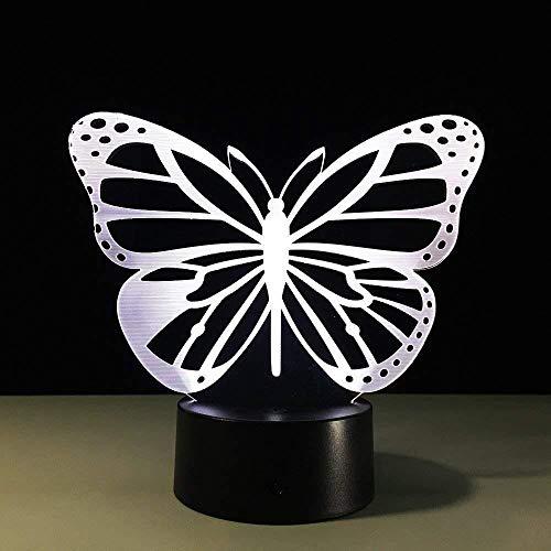 3D Led Night Light Butterfly Lamp USB Night Lamp Bedside Table Lamp Lampe Enfantchambre
