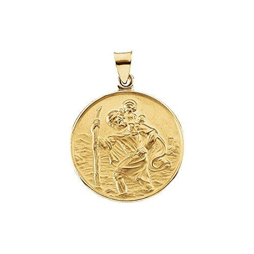 Or jaune 18 carats-Médaille Saint Christophe-JewelryWeb 24,5