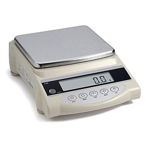 MZP Elektronische precisieweegschaal, 10 kg/0,1 g, digitale weegschaal, industrieel bedrijf, post 5kg/0.1g Wit
