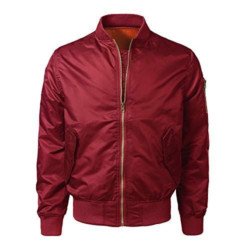 Best Prices! jin&Co Bomber Jacket Men Full Zip Classic Premium Slim Casual Short Coat Outercoat Re...