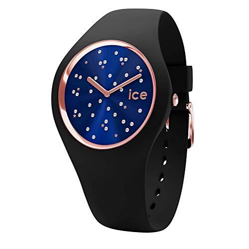 Ice-Watch - Ice Cosmos Star Deep Blue - Montre Noire pour Femme avec Bracelet en Silicone - 016294 (Medium)
