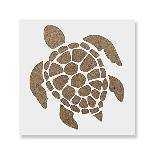 Turtle Stencil - Reusable Stencils for Painting - Mylar Stencil for Crafts and Decorations