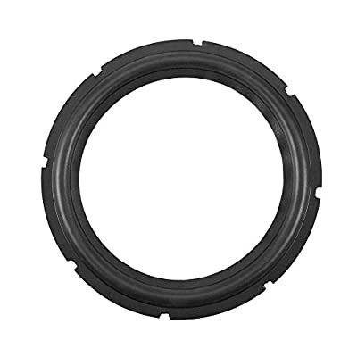 10inch Perforated Rubber Speaker Foam Edge Subwoofer Surround Rings Replacement Parts for Speaker Repair or DIY (Black)(1pcs) by Zerone