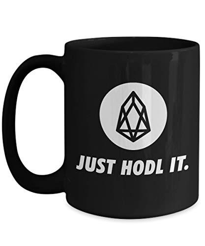 Officiell TRON logo stor mugg akryl kaffehållare svart 3,25 dl kryptovaluta bara HODL Crypto Miner Blockchain Invest Trade Köp Sälj Hold TRX