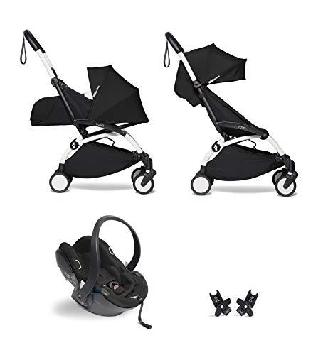 Babyzen YOYO² buggy KOMPLETTES SET 0+ und 6+ schwarz Gestell weiß mit YOYO² BeSafe iZi Go Modular i-Size Autositz schwarz
