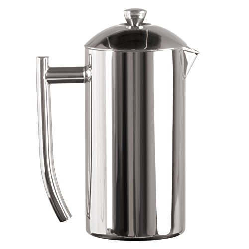 Frieling USA Double Wall Stainless Steel French Press Coffee Maker with Zero Sediment Dual Screen, Polished, 23-Ounce