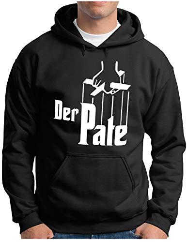 OM3® Der Pate Hoodie | Herren | The Godfather Mafia Iconic Movie | Kapuzen-Pullover Schwarz, L