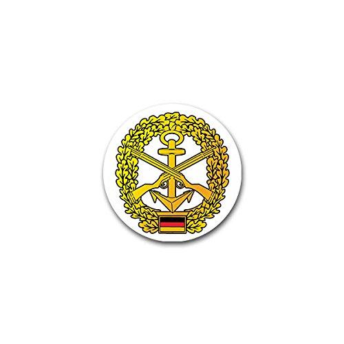 Copytec Aufkleber/Sticker -Marinesicherung Marineschutzkräfte MSK deutsche Marine Barettabzeichen Infanterie Deutschland Bundeswehr Fahne Flagge Wappen Abzeichen Emblem 7x7cm #A2402