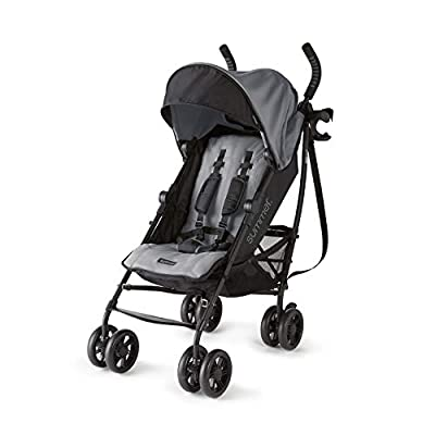 Summer 3Dlite+ Convenience Stroller, Matte Gray - Lightweight Umbrella Stroller with Oversized Canopy, Extra-Large Storage and Compact Fold from Summer Infant, Inc.