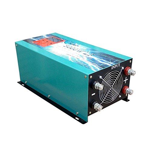 Plusenergy wccsolar Inverter 5000W LF Convertidor Onda Pura del Seno DC 24V to AC 230V+Cargador 80Amp