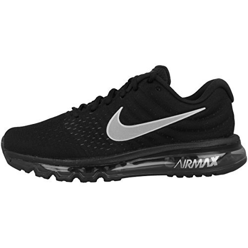 Nike Mens Air Max 2017 Running Shoes Black/White/Anthracite 849559-001 Size 11