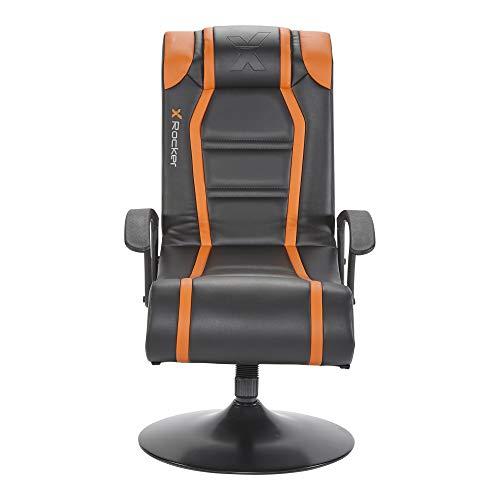 X Rocker Veleno 2.1 Pedestal Gaming Silla con sistema de sonido 2.1 en naranja y negro